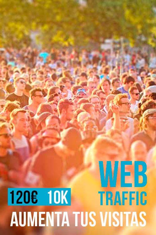 Tráfico Web 10 mil visitas SEO