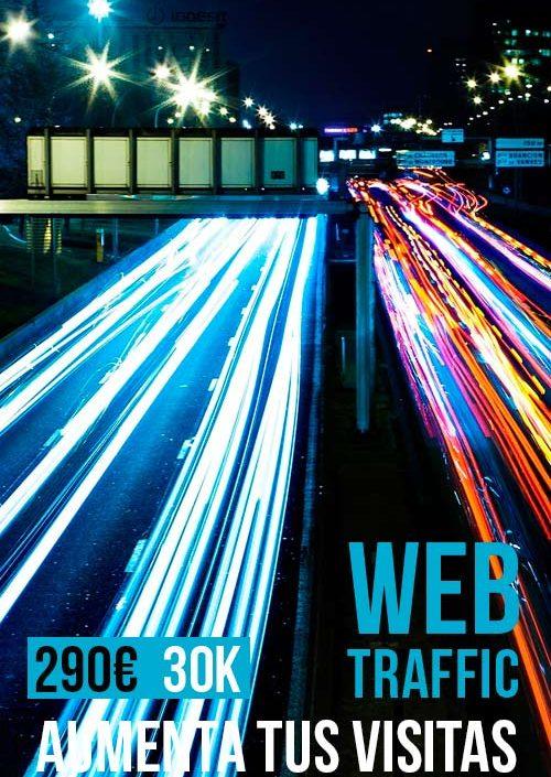 Tráfico Web 30 mil visitas SEO